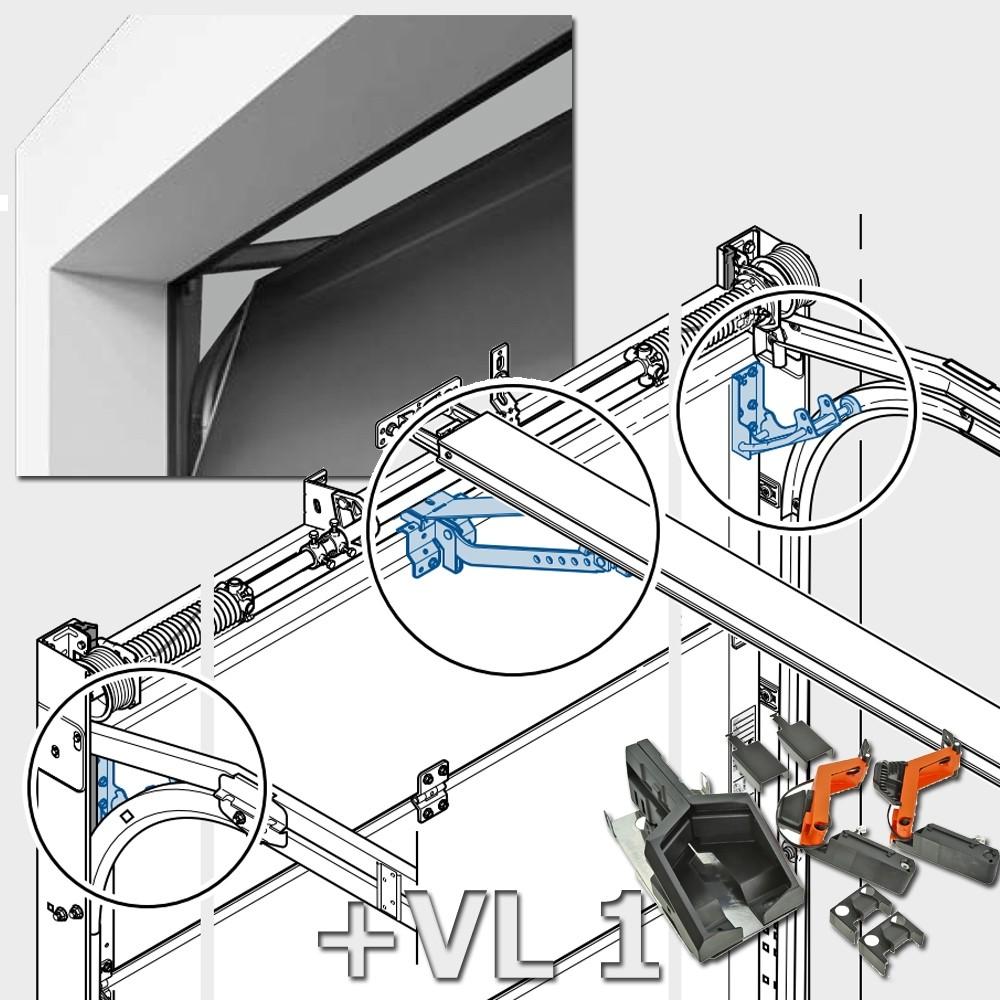 Комплект 2 откидывающийся роликодержатель  4015284