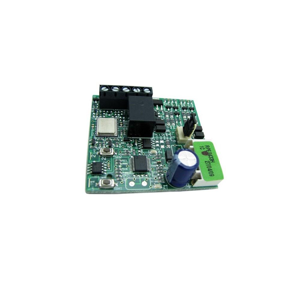 Радиоприемник Faac 2-канальный встраиваемый в разъем RP 433 МГц  память на 250 пультов с кодировкой RC
