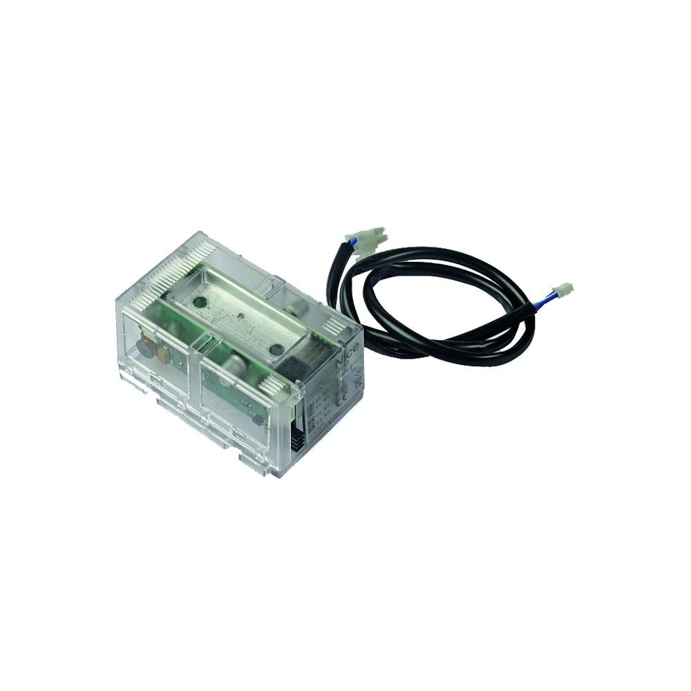 Интегрируемая светофорная лампа XBA8 ставится в шлагбаумы Nice.