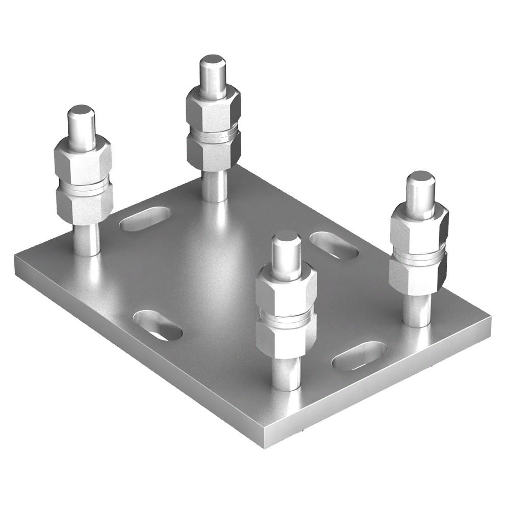 Подставка регулируемая роликовой опоры DoorHan для балок 71х60х3,5