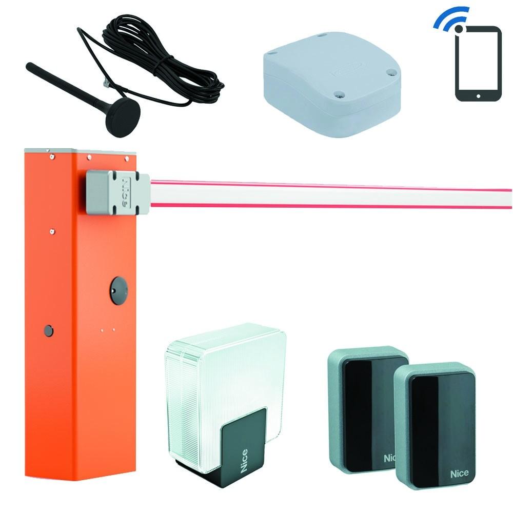 Комплект шлагбаума Nice WideM с 5 метровой стрелой и управлением через телефон