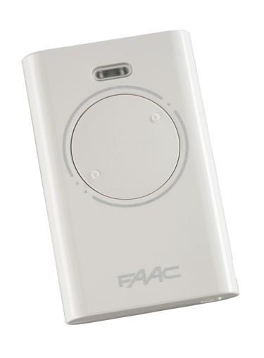 Брелок-передатчик Faac XT2 433 SLH LR 433 МГц, белого цвета