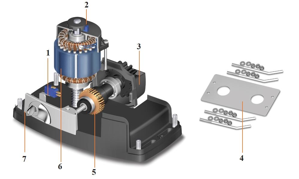 Схема привода ROGER H30