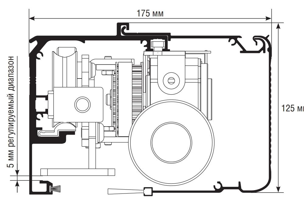 Размеры привода AD-SP