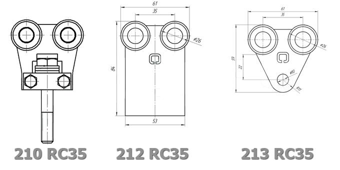 Тележки системы RC35