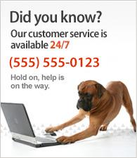 Наш сервис обслуживания клиентов доступен 24/7. Звоните нам на (123) DEMO-NUMBER.